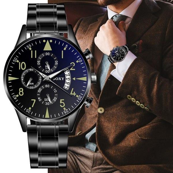 Quartz Wristwatch Luminous SOXY Men s Watches Classic Calendar Mens Business Steel Watch relogio masculino Popular 4 Quartz Wristwatch Luminous SOXY Men's Watches Classic Calendar Mens Business Steel Watch relogio masculino Popular saati hours