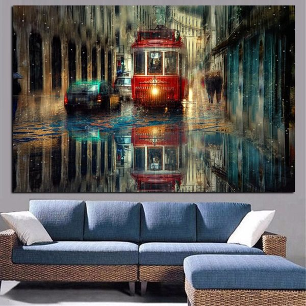 Retro City Street Landscape Oil Painting on Canvas Art Posters and Prints Scandinavian Wall Picture for Retro City Street Landscape Oil Painting on Canvas Art Posters and Prints Scandinavian Wall Picture for Living Room Cudros Decor