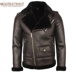 100 Natural Shearling Coat Men Thick Fur Coat Winter Mens Leather Coat Warm Winter Clothing Size Innrech Market.com