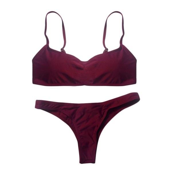 2019 New Summer Women Solid Bikini Set Push up UnPadded Bra Swimsuit Swimwear Triangle Bather Suit 4 2019 New Summer Women Solid Bikini Set Push-up UnPadded Bra Swimsuit Swimwear Triangle Bather Suit Swimming Suit biquini