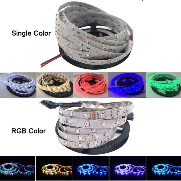 5 meter 300Leds Non waterproof RGB Led Strip Light 2835 DC12V 60Leds M Flexible Lighting Ribbon 1 5 meter 300Leds Non-waterproof RGB Led Strip Light 2835 DC12V 60Leds/M Flexible Lighting Ribbon Tape +24key Controller fita led
