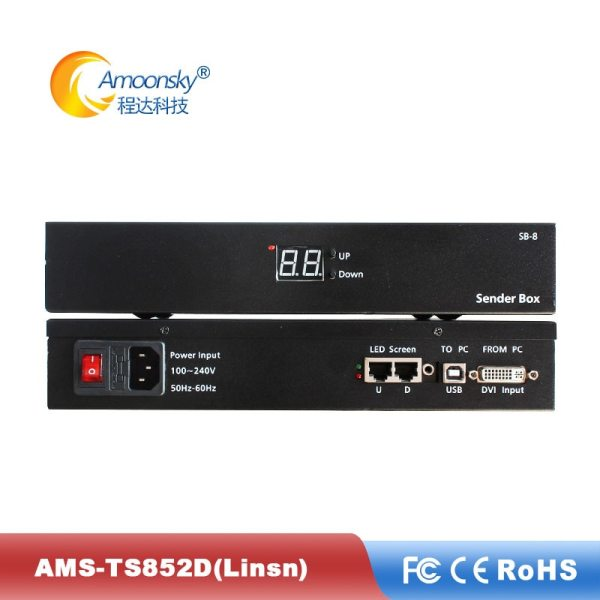 Amoonsky Led Video Screen Sender Box With Linsn TS802 Sending Card And Meanwell Power Supply Included Amoonsky Led Video Screen Sender Box With Linsn TS802 Sending Card And Meanwell Power Supply Included linsn ts802d sender box