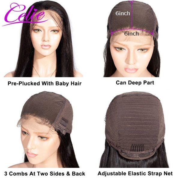 Celie Straight 6x6 Lace Closure Wig Human Hair Wigs 180 Density Brazilian Human Hair Lace Wigs 5 Celie Straight 6x6 Lace Closure Wig Human Hair Wigs 180 Density Brazilian Human Hair Lace Wigs Straight Lace Closure Wig