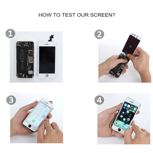 Full Set LCD Display for iPhone 5 5C 5S 5G LCD Screen Touch Digitizer Full Assembly 5 Full Set LCD Display for iPhone 5 5C 5S 5G LCD Screen Touch Digitizer Full Assembly LCD Replacement Pantalla+Home Button+Camera