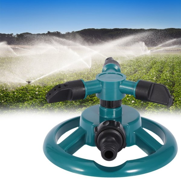 Garden Sprinklers Automatic Watering Grass Lawn 360 Degree 3 Nozzle Circle Rotating Irrigation System 2 Garden Sprinklers Automatic Watering Grass Lawn 360 Degree 3 Nozzle Circle Rotating Irrigation System