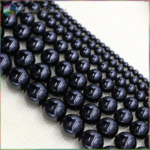 Natural Black Tourmaline Loose Round Beads 4mm 6mm 8mm 10mm 12mm 1 Natural Black Tourmaline Loose Round Beads 4mm,6mm,8mm,10mm,12mm