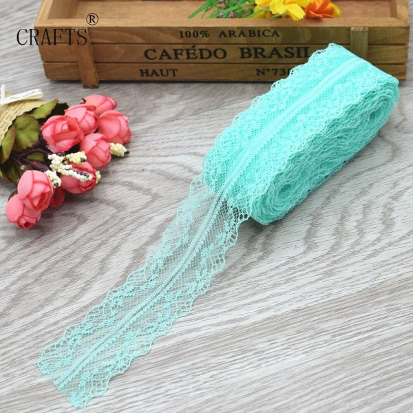 New 10 yards beautiful lace ribbon 3 8 cm wide DIY decoration accessories holiday decorations 2 New! 10 yards beautiful lace ribbon, 3.8 cm wide, DIY decoration accessories, holiday decorations