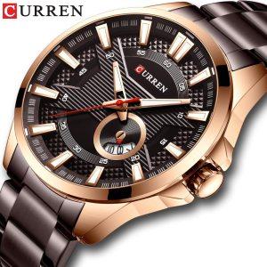 New Stainless Steel Quartz Men s Watches Fashion CURREN Wrist Watch Causal Business Watch Top Innrech Market.com