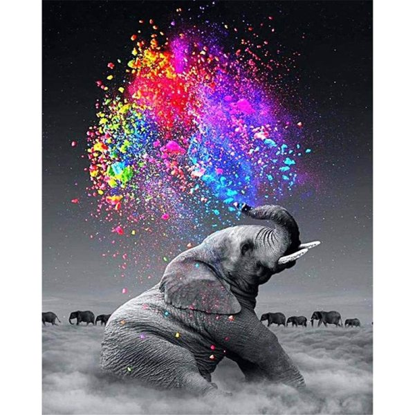 Painting By Numbers DIY Dropshipping 40x50 50x65cm cloud elephant Cigarettes Animal Canvas Wedding Decoration Art picture Painting By Numbers DIY Dropshipping 40x50 50x65cm cloud elephant Cigarettes Animal Canvas Wedding Decoration Art picture Gift