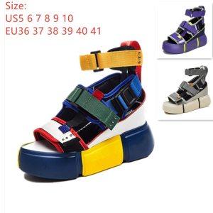 SWONCO Women s Sandals 2019 Summer High Heels Sandals For Women Chunky Sandal Womens Wedge Platform Innrech Market.com