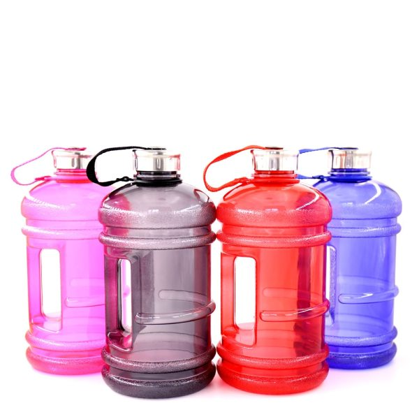 Soffe 2 2L Large Capcity 1 2 Gallon Water Bottle Bpa Free Shaker Protein Plastic Sport 1 Soffe 2.2L Large Capcity 1/2 Gallon Water Bottle Bpa Free Shaker Protein Plastic Sport Water Bottles Handgrip Gym Fitness Kettle