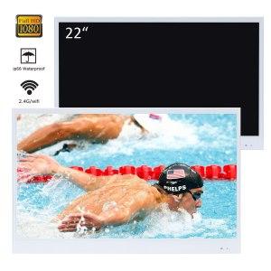 Souria 22 inches White Finish Bathroom Luxury Smart LED TV Interior Water Proof Television Kitchen Appliance Innrech Market.com
