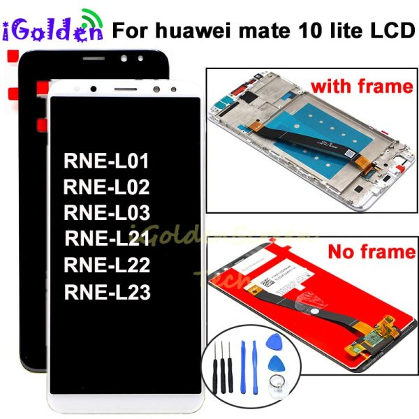 pantalla For Huawei Mate 10 Lite LCD Display Touch Screen Digitizer Screen Glass Panel Assembly with pantalla For Huawei Mate 10 Lite LCD Display Touch Screen Digitizer Screen Glass Panel Assembly with frame for Mate 10 Lite lcd