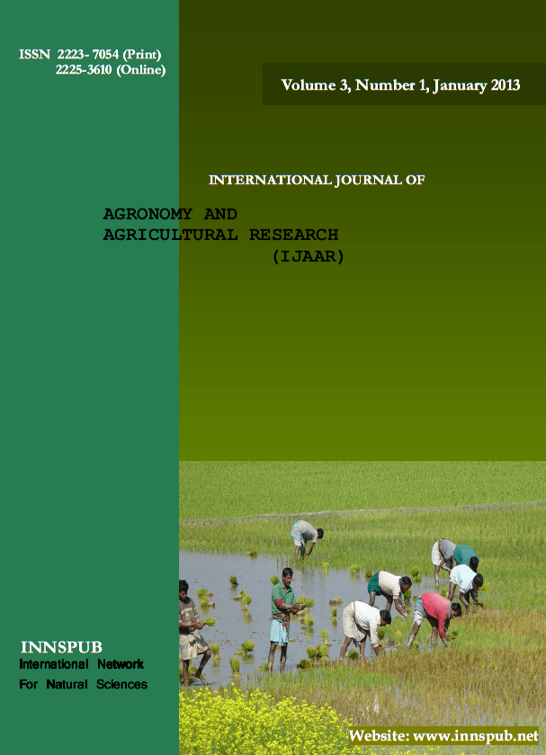 International Journal of Agronomy and Agricultural Research (IJAAR)