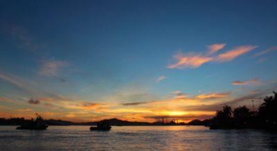 Tramonto sul Sungai Mahakam