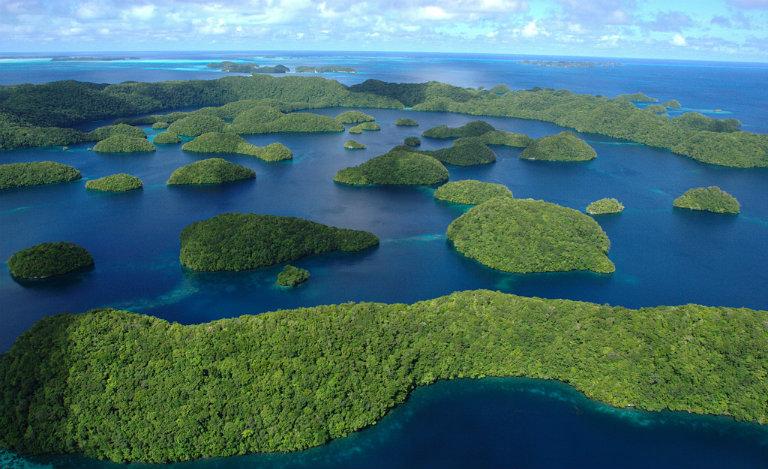 Isole di Palau dall'alto