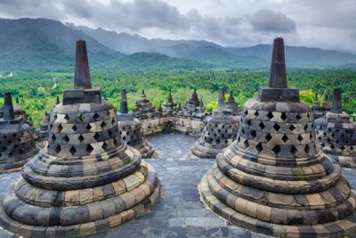 tempio Buddhista Borobudur Java Indonesia