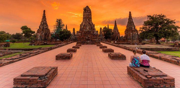 i templi di Ayutthaya in Thailandia