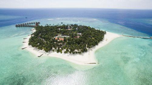 Una stupenda spiaggia nell'atollo di Vaavu