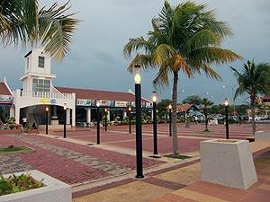 La piazza principale del villaggio di Medan Portugis