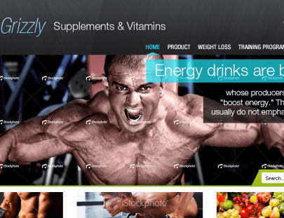 Grizzly Nutrition Website Design