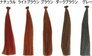 ヘナの全5種類のカラー見本