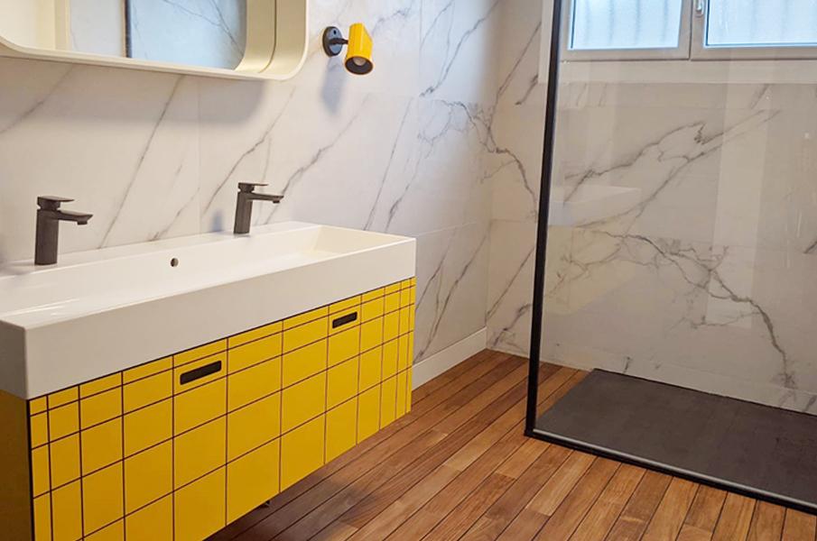 meuble vasque salle de bain agence de design atelier de fabrication amenagement d espace sur mesure mobilier et decoration particuliers et professionnels boutique en ligne vitre