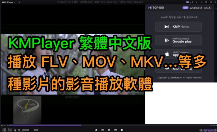 KMPlayer 4.2.2.16 中文免安裝版 (for Windows)