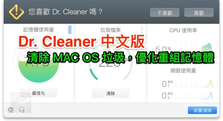 Dr. Cleaner 3.3.5 中文版 (for macOS)