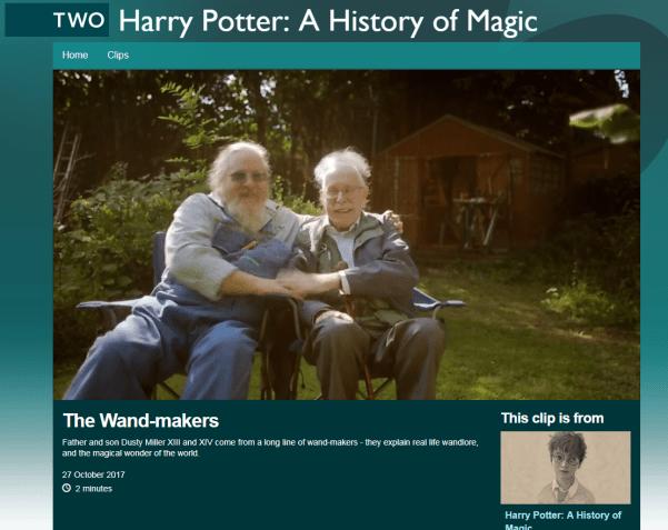 Harry Potter A History of Magic wandmakers