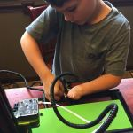 Aidan Working on a 3D Printer Tevo Tornado enable enable