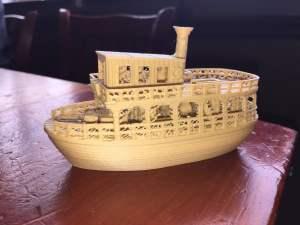 3d hero wood-furry boat