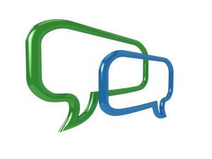3D chat bubbles