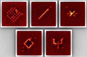 Caneta quântica escreve com átomos em cristal de luz