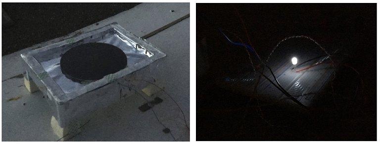 Célula noturna gera eletricidade da fria escuridão da noite