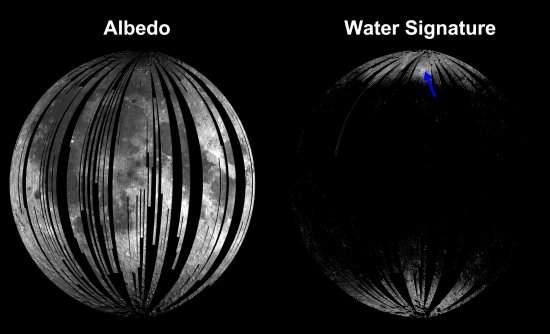 La nave espacial indio se encuentra agua en la Luna
