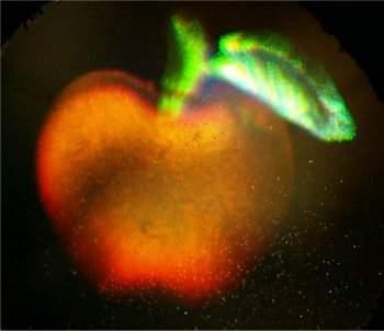 Hologramas coloridos são gerados com luz branca