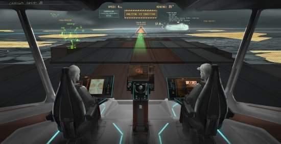 Navios do futuro terão cabine de espaçonave