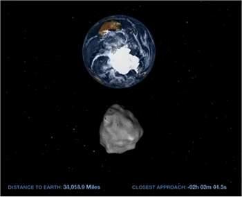 Asteroide baterá recorde de aproximação com a Terra