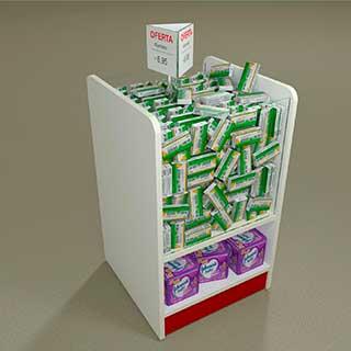 cestao vidro - Confira quais são os móveis para farmácias mais adequados para fazer a exposição dos produtos