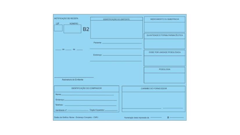 notificação de receita azul B2