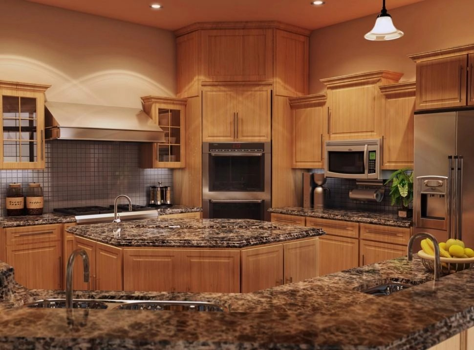 Best Granite Kitchen Countertops For Oak Cabinets | Inovastone on What Color Cabinets With Black Granite Countertops  id=33459