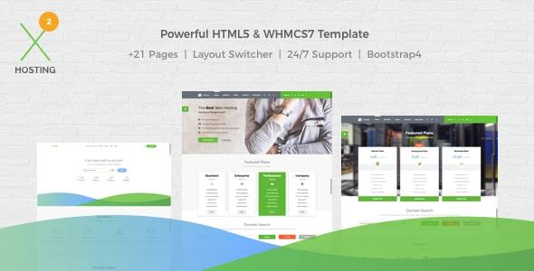 X-DATA – WHMCS7 & HTML5 Powerful Web Hosting Template Free
