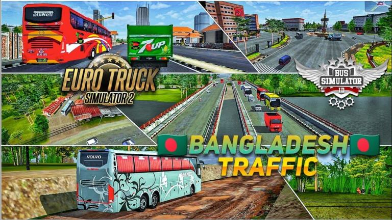 BUSSID Speed Traffic Mod Apk and Bangladesh Traffic Mod Obb FREE