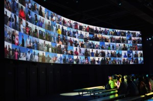 Inside the main theater at the USA Pavilion, Yeosu Expo 2012