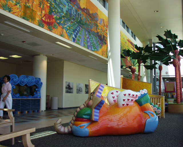 Childrens Hospital Los Angeles lobby. Courtesy Lexington Design.