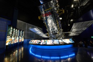Recreation of the Hubble Telescope. Photo by Delaware North Companies / Joe Cascio