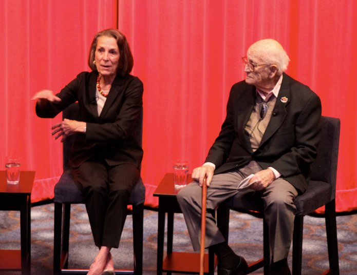 """Diane with Harrison """"Buzz"""" Price in the Museum's Theater July 16, 2010"""