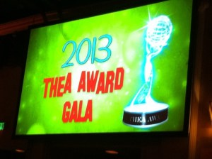 THea award sign