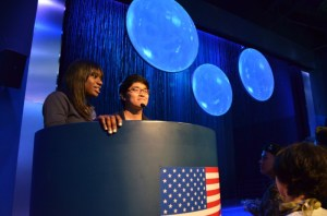 Inside the US Pavilion at Yeosu Expo 2012, Student Ambassadors introduce the show